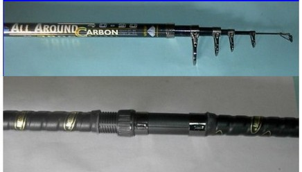 Canna All Around Carbon - anelli ghiera - azione 40-90 gr